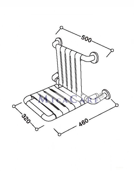 folding shower seat with back rest   MicaCare Group