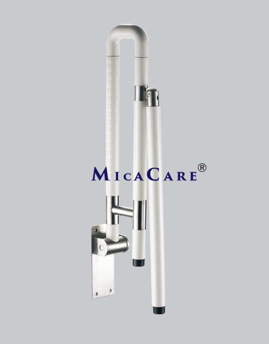 folding grab bar with movable support | MicaCare Group